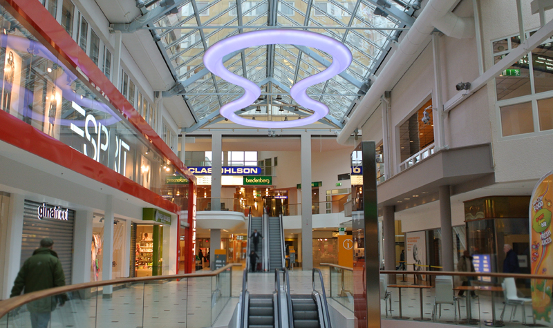 Unique Led Lighting Design Solna Shopping Mall Sweden